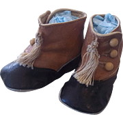 c.1910 Three Button Baby Shoes with Tassels