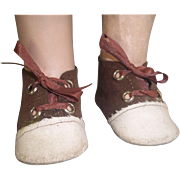 Replacement Two Tone Shoes for Composition or Hard Plastic Doll