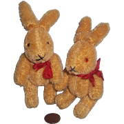 Wonderful Vintage Pair of Vintage Jointed Mohair Bunnies in Time for Easter