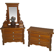 Two Pieces of German Schneegas Bedroom Furniture c.1900