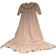 c.1900 Long Calico Baby Gown with Nice Sewing Details