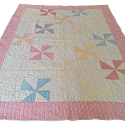 c.1930s Pastel Baby/Crib Quilt for Large Baby Doll