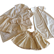 SALE Six Piece Assortment of Off White Wool for Dolls