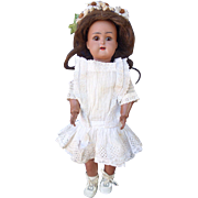 """Antique Bisque Black Doll Kammer and Reinhardt Simon and Halbig 14"""""""