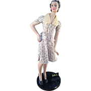 "Advertising Mannequin Store Display Butterick 34"" Huge!"
