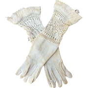 """Antique French fashion doll Gloves 4"""""""