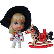 Liddle Kiddle Calamity Jiddle Complete doll with Horse