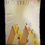 Mattel 1968 Doll and Toy Catalog Liddle Kiddles, Barbie, Major Matt Mason