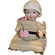 "Adorable Bisque googly Baby Nippon 7 1/2"" Antique Doll"