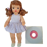 Beautiful Talking Terri Lee Doll All Original with Record 1950's