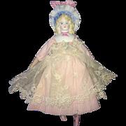 "SOLD 7"" Antique Bisque Bonnet Doll Adorable! Hertwig?"