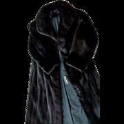 Womans BLACK Mink Coat Black Full Length~Select Natural Black Dark Ranch~ EXCEPTIONAL~$  9,999