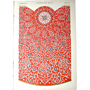 SALE Three Antique Turkish Chromolithographs, 1868: Grammar of Ornament