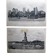 SOLD Genuine: Two hold-to-light postcards circa 1910