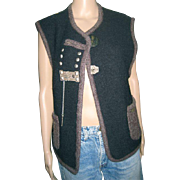 A unique Wesenjak boiled wool vest. US 10.