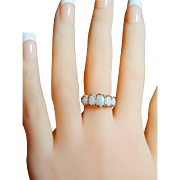 SALE Vintage 5 Stone Opal Ring 6.5