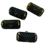 Carved Set of Carmel Toggle Buttons