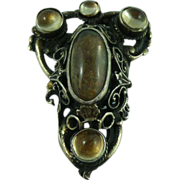 Late Victorian Signed Mappin Sterling Pin