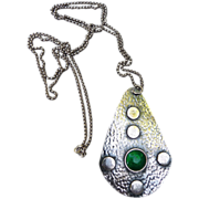 SALE Lovely Arts and Craft Style Pendant/Necklace