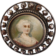 Early Victorian Lithograph Button