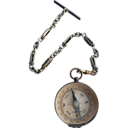 Vintage Watch Chain and Compass