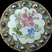 Large Victorian Enamel Button