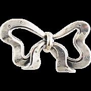 Vintage Sterling Silver Danecraft Bow Pin - 1950