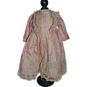 Very nice factory french antique dress for bebe Jumeau
