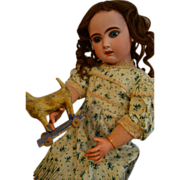 """Beautiful JUMEAU French BEBE 25"""" Named MARIE LOUISE by the collector in 1979"""