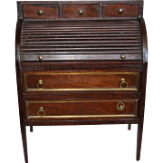 French all original XVIII century roll top desk for your fashion doll