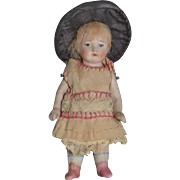 """charming all-bisque doll,4"""" tall"""