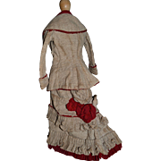 wonderful 2 pieces costume for your fashion doll circa 1880