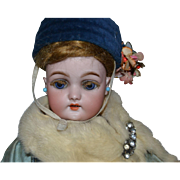 Darling antique roullet descamps and simon halbig walking doll for the french market