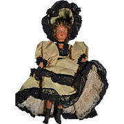 French souvenir little doll in cancan outfit