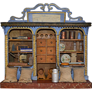 Very rare French miniature grocery ,confiserie with candy box