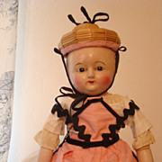 Taufling baby , WAX OVER COMPOSITION 1860 Motschmann type