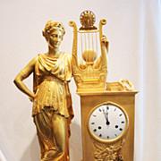 World class, massive French Empire bronze clock, 81 cm!