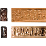 REDUCED Outstanding Syrian cylinder seal in brown Hematite!