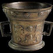 Rare large English bronze mortar, c. 1600 AD!