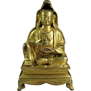 Fine quality Chinese gilt bronze figure of Guanyin!