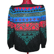 Swiss Evening Sweater from the 1980s