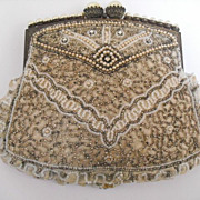Vintage Ruffled Beaded Purse from the 1930s