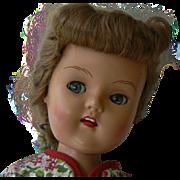 Vintage 50's Plastic Molded Arts Co. Walking Doll Flirty eyes.