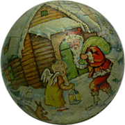 Vintage German Christmas Candy Container Ball Sweet