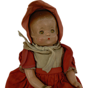 SOLD Attic fresh Effanbee Patricia  Patsy Patricia Doll  with tag on wrist fixer upper. - Red