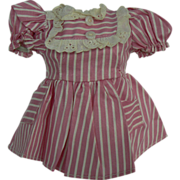 Cute 1950's factory doll dress pink and white