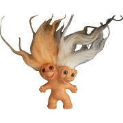 Hard to Find, Two Headed Troll Uneeda 1965 COOL Look !!!!