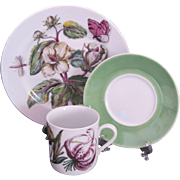 Mottahedeh The Exotic Plant Cup Saucer Salad Dessert Plate