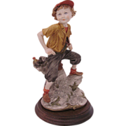 Giuseppe Armani Capodimonte Figurine Sculpture Boy with Slingshot
