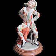 Giuseppe Armani Harlequin Capodimonte Figurine Sculpture